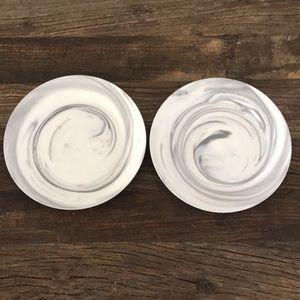 Lenox Marble Wave Grey Set of 2 Salad Plates
